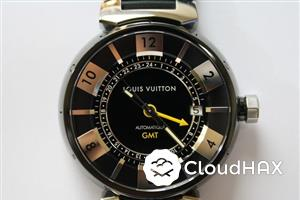 Louis Vuitton Tambour in Black GMT,KL for sale
