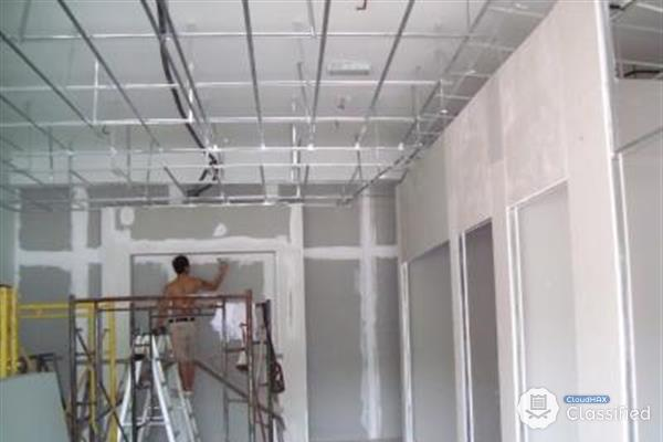 Partition gypsum board installation