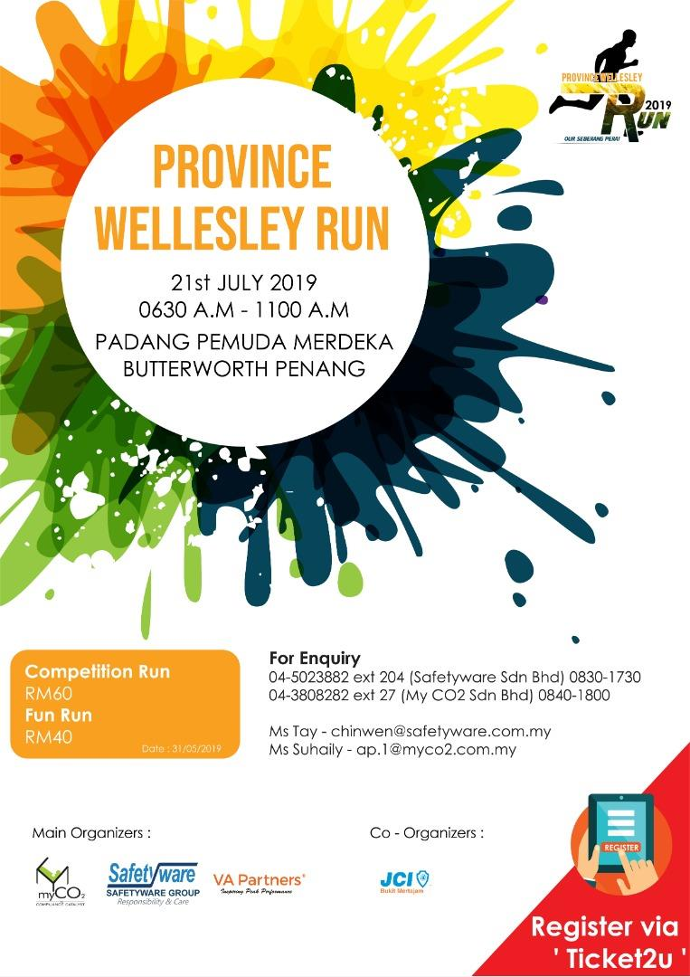 Province Wellesley Run 2019 Ticket2u