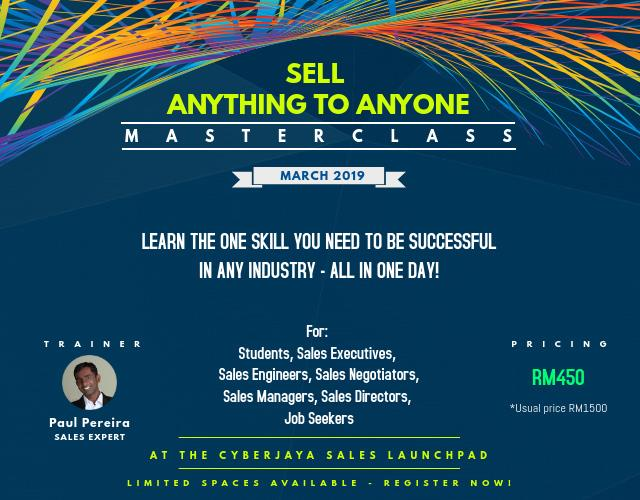 HOW TO SELL ANYTHING TO ANYONE - A SALES TRAINING MASTERCLASS