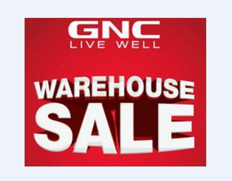 GNC Live Well Warehouse Sale for Health Fitness Nutrition Clearance