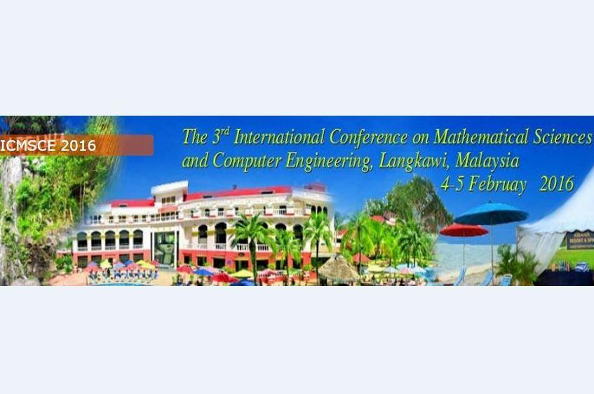 The 3rd International Conference on Mathematical Sciences And Computer Engineering