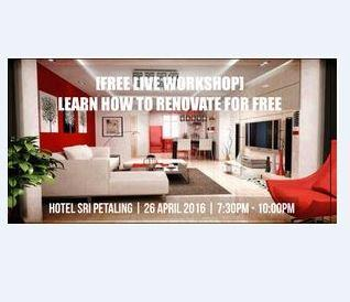 LEARN HOW TO RENOVATE FOR FREE !