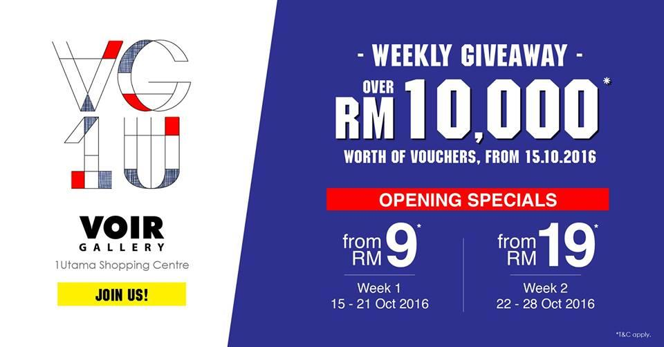 RM10k Voucher Giveaway at VOIR Gallery 1Utama