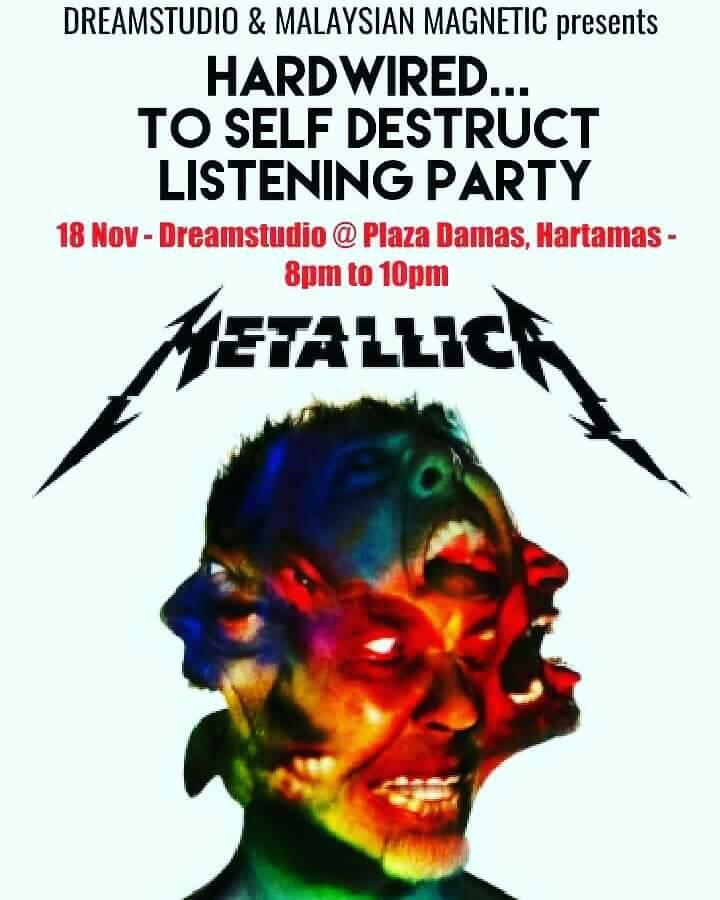 Hardwired...To Self Destruct Listening Party