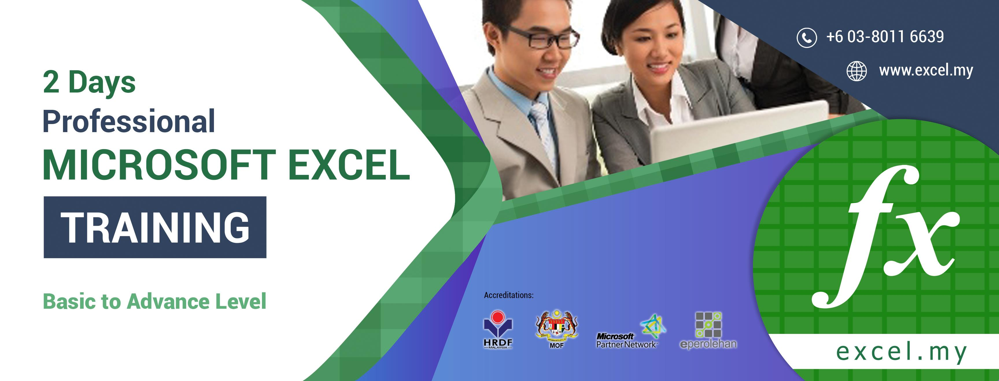 Microsoft Excel Advanced Training (21-22 Aug 2017)